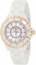 Stuhrling Original 530 114EW3 Women's Leisure Ceramic Glamour Quartz White Watch