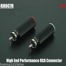 4pcs gaofei red copper plated rhodium Rca plugs connector hi-end audio