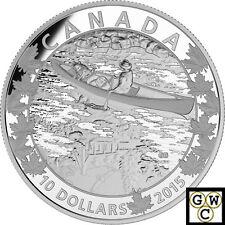 2015 Mirror-Canoe Across Canada Prf $10 Silver 1/2oz .9999Fine(NT)(17339)OOAK