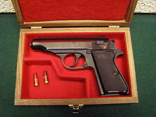 PISTOL GUN PRESENTATION CASE WOOD BOX COLT WALTHER PP PPK SAVAGE BROWNING 1910