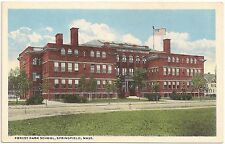 Forest Park School in Springfield MA Postcard