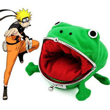 Naruto Frog Shape Uzumaki Chic Wallet Green Cosplay Coin Purse Plush♫