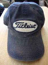 Titleist Vintage 1980s Sewn Logo Blue Golf Hat Classic Fitted Ball the Masters