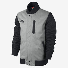 Nike Men's BB Padded Destroyer Jacket-  Large (grey/blue)