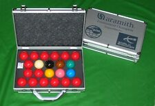 ARAMITH SUPERPRO 1G SET WORLD CHAMPIONSHIP SNOOKER TABLE BALLS ALUMINIUM CASE