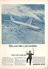 1966 Boeing Jet Plane flying in Air  PRINT AD
