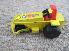 Matchbox Lesney Superfast Yellow 21 Rod Roller 1973 Made in England