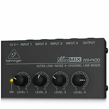 Behringer MicroMIX MX400 Low-Noise 4-channel Line Mixer, Black JAPAN