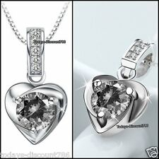 BLACK FRIDAY DEALS - NEW Silver Crystal Diamond Necklace Xmas Gift For Her Women