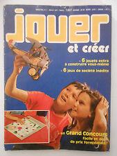 JOUET ET CRÉER Trimestriel n° 1 Juillet 1977  Complet Supplément JEUX DE SOCIÉTÉ