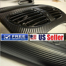 4D GLOSSY Carbon Fiber Vinyl Wrap DIY Sticker Decal Film 4ftx5ft Air Bubble Free