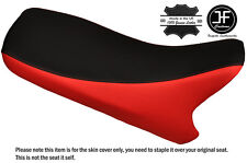 RED & BLACK CUSTOM FITS AEON REVO 100 DUAL LEATHER SEAT COVER ONLY
