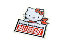 MITSUBISHI 3000GT ECLIPSE LANCER MIRAGE HELLO KITTY EMBLEM BADGE DECAL RARE