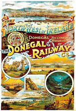 Art Print  Donegal Ireland Railway Travel Poster