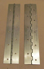 "A Pair 2 Aluminum Piano Hinge 1""x1""x10"" 20 Gauge Made in USA"
