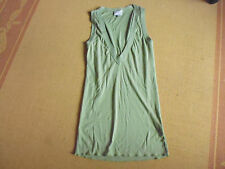 LADIES CUTE GREEN POLYCOTTON SLEEVELESS TOP BY RIVERS - SIZE M - AUS 12/14 CHEAP