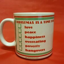 Papel Mark A Mug Christmas Is A Time For Love Peace Happiness Overeating