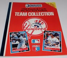 BRAND NEW 1988 UNCUT NEW YORK YANKEES TEAM SET DONRUSS PUZZLE 27 TRADING CARDS