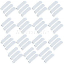 45pcs White Closed 3 Single Coil Pickup Covers For ST Guitar replacement Plastic