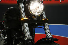 Custom Dynamics LED fork wrap arounds turn signals Chrome Clear 03-17 Victory