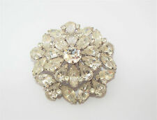 Vintage clear rhinestone BROOCH pin costume jewelry
