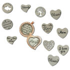 Floating Locket Plate Best Wishes Charms for Glass Glass Living Memory Locket