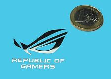REPUBLIC OF GAMERS METALISSED CHROME EFFECT STICKER LOGO AUFKLEBER 35x30mm [483]