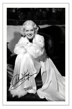 ALICE FAYE SIGNED PHOTO PRINT POSTER AUTOGRAPH VINTAGE HOLLYWOOD MOVIE STAR