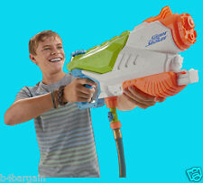 NERF Super Soaker Flood Fire Water Blaster 11.5m Range Attaches To Hose