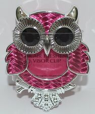 NEW BATH & BODY WORKS PINK OWL SCENTPORTABLE HOLDER VISOR CLIP CAR AIR FRESHENER