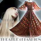 VINTAGE INDIAN DRESS 70s 8 10 12 14 16 18 60s HIPPY BOHO WEDDING M L XL GODDESS