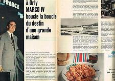 PUBLICITE ADVERTISING 124  1960   BUITONI  raviolis USINE MARCO AIR-FRANCE  ( 2p