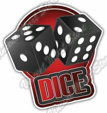 "Black Dice Gamble Gambling Casino Fortune Car Bumper Vinyl Sticker Decal 4""X5"""