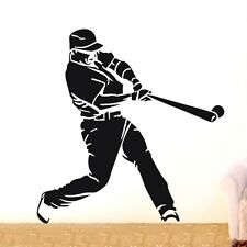 Baseball player sports Wall Decor Removable Vinyl Decal Sticker Art DIY Mural