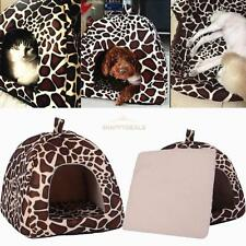 Leopard Fashion Pet Bed Cushion Dog Cat Warm Mat Soft Pad Sleeping Nest House S