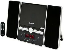 SHELF MICRO MINI CRAIG CD PLAYER SYSTEM w/ DUAL ALARM CLOCK AM/FM STEREO RADIO