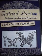 Tattered lace die construire un papillon merveilleux nouveau libre p&p