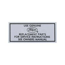 Air Cleaner Decal - Service Instructions - Ford 49-47590-1