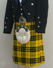 Scottish | Macleod of Lewis Tartan Heavy Kilt & Kilt Pin | Geoffrey