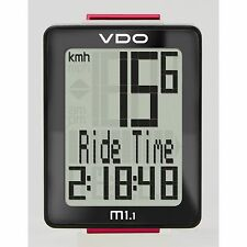 VDO M1.1 WR Wired Cycle Computer - 5 Functions with large clear display panel!