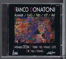 FRANCO DONATONI CD NEW ALAMARI / PAUL MEFANO/ JACQUES MEFANO/ PIERRE YVES ARTAUD