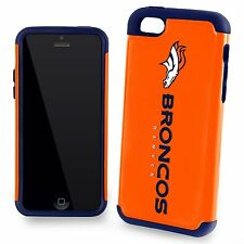 New In Retail Box Apple iPhone 5c 5s 5 NFL Denver Broncos Dual Hybrid Case