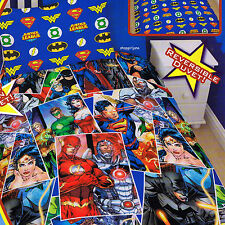 Justice League Invincibl Batman Superman Single/Twin Bed Quilt Doona Duvet Cover