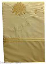 SINGLE BED CLARISSA GOLD DUVET COVER FAUS SILK RIBBON EMBROIDERED FLOWERS VELVET
