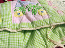 Pottery Barn Crib Bumper Standard Crib Mary Mary Rhymes Flowers Embroidered