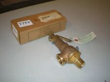 "Kunkle Safety Valve Mod #6021 ED01 3/4"" Inlet 1"" Out Set 40#  Cap 571 Lb/Hr NIB"