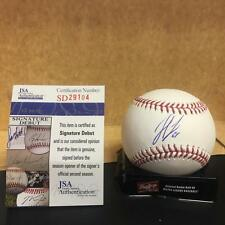 SETH LUGO NEW YORK METS SIG. DEBUT M.L. SIGNED BASEBALL JSA SD29104