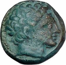 Philip II Alexander the Great Dad OLYMPIC GAMES Ancient Greek Coin Horse i47411