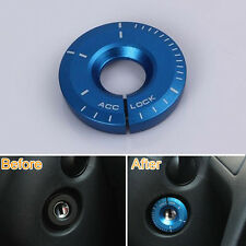 Blue Car Ignition Keyhole Switch Key Lock Cover Decoration Ring Trim for Golf 7