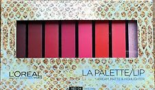 New And Sealed LOREAL LA PALETTE LIP - CREAM MATTE & HIGHLIGHTER - RED 04